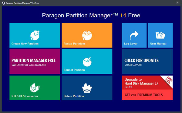 Paragon Partition Manager(硬盘分区魔术师) V14 (32位)