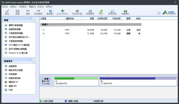 Aomei Partition Assistant Lite Edition(奥美分区助手) V5.8